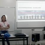 A professora Soraya falou dos inúmeros pappe´si desempenhados pela mulher na sociedade
