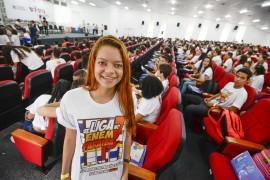 DiegoNóbrega Se liga no ENEM PB 10 ENTREVISTADA MARIA GABRIELA 270x180 - Lançamento do #SeLigaNoEnemPB reúne 600 alunos de escolas estaduais da Grande João Pessoa