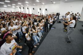 DiegoNóbrega Se liga no ENEM PB 8 270x180 - Lançamento do #SeLigaNoEnemPB reúne 600 alunos de escolas estaduais da Grande João Pessoa